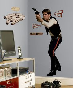 Look at this #zulilyfind! Star Wars Han Solo Peel & Stick Giant Wall Decal by Star Wars #zulilyfinds