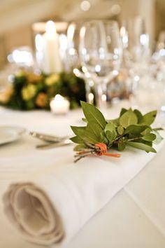 green, white, orange wedding table decor