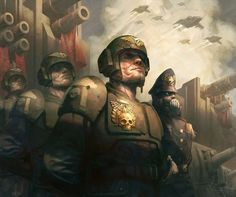 Imperial Guard - Warhammer 40k - Astra Militarum - Cadan Shock Troops - Commissar - Valkyrie
