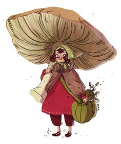 A little mushroom gatherer.