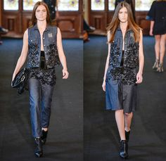 Ellus 2014 Winter Womens Runway Collection - São Paulo Fashion Week Brazil - Inverno 2014 Mulheres Desfiles - Flowers Floral Embroidery Embe...