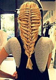 Everted Fish tail/Herring Bone Braid