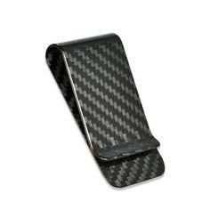 Glossy Real Carbon Fiber Money Clip Wallet Clip Front Pocket