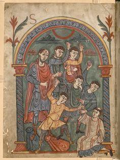 Munich Bayerische Staatsbibliothek, Epistulae Pauli - BSB Clm 14345, fol. 1v