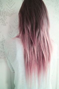 Ombre hair styles / via two-tone hair colour ideas to 'dye for'! Diy Ombre Hair, Pink Hair Dye, Dye My Hair, Ombre Hair Color, Purple Hair, Brown And Pink Hair, Pastel Pink Ombre Hair, Pink Purple, Pastel Purple