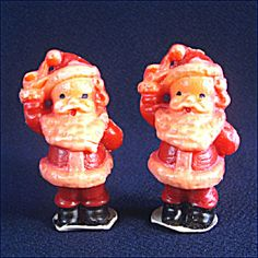 Vintage Christmas Candles ~ Gurley Waving Santa Claus ~ Circa 1950's.
