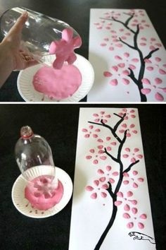 DIY decoration: Magical ideas to make your own- DIY-Deko: Zauberhafte Ideen zum Selbermachen Great decoration does not necessarily have to be expensive. We& show you how to make your home beautiful with simple means … - Kids Crafts, Diy Home Crafts, Easy Crafts, Creative Crafts, Felt Crafts, Wood Crafts, Paper Crafts, Diy Para A Casa, Art Diy