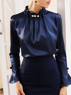 Chic Men/'s Trendy Loose Perspective Stripe Long Bat Sleeve Shirt Oversize Shirt