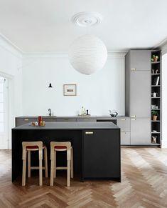 Ikea Kitchen, Kitchen Pantry, Kitchen And Bath, Kitchen Interior, Kitchen Design, Scandinavian Interior, Contemporary Interior, Black Kitchens, Home Kitchens