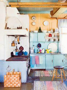 Kitchen  - blue/orange