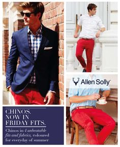 Summer in 14 colours with #AllenSolly chinos. Get your shade to cool off.