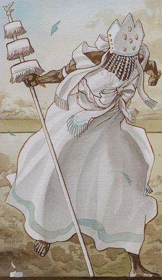 King of Wands - Afro-Brazilian Tarot by Giuceppe Palumbo