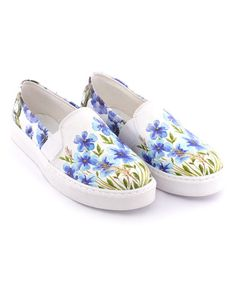 Love this Blue Floral Slip-On Sneaker on #zulily! #zulilyfinds