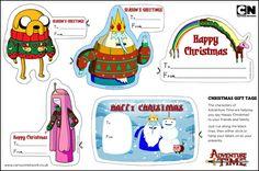 Adventure Time Christmas Gift Tags