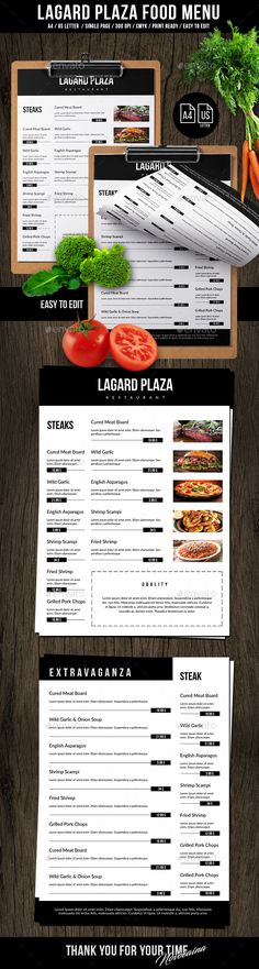 Lagard Plaza A4 and US Letter Single Page Menu