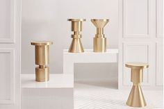 COUNTER HEIGHT CHESS PIECE STOOLS | Anna Karlin