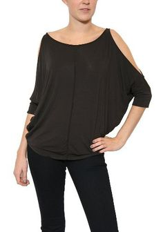 Women's Michael Stars Cold Shoulder Circle Top in Graphite One Size Michael Stars. $66.60. Save 10% Off!