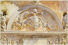 "John Singer Sargent (American, 1856–1925). Escutcheon of Charles V of Spain, 1912. The Metropolitan Museum of Art, New York. Purchase, Joseph Pulitzer Bequest, 1915 (15.142.11)  | This work is in our ""Sargent: Portraits of Artists and Friends."""