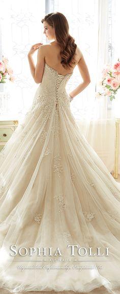 sophia tolli spring 2016 wedding dresses back view Y11637