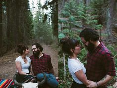 Woodsy Romance, couples session - Portraits by Lucy