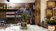 Grabgestaltung Tulip decoration with wood. Make a bouquet of tulips yourself Diy Garden Bed, Making A Bouquet, Mediterranean Decor, Interior Plants, Autumn Garden, Deco Table, Decorating Small Spaces, Planting Flowers, Flower Arrangements