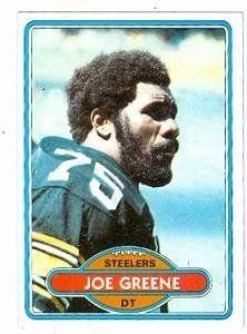 643df1544 Mean Joe Greene football card (Pittsburgh Steelers) 1980 Topps  175 by Hall  of