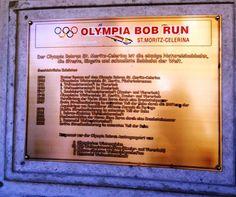 Olympic Bob Run plaque of winners, St Moritz