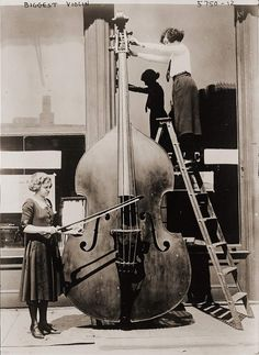 """Biggest Violin.""  From Collections, Library of Congress."