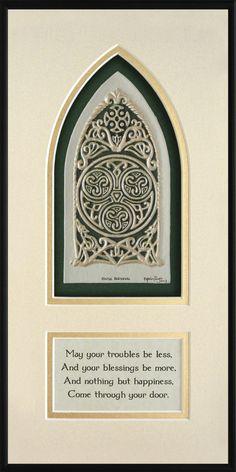 Celtic House Blessing Cast Paper Irish Art by Castpaper on Etsy House Blessing, Irish Blessing, Irish Celtic, Celtic Art, Celtic Symbols, Irish Quotes, Scottish Quotes, Irish Sayings, Erin Go Bragh