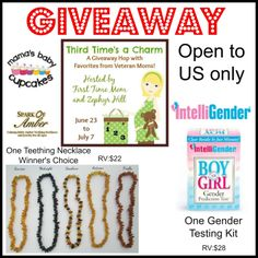 Enter to win Intelligender or Amber Teething necklace!