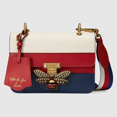 7acfce754e0 GUCCI 2017-18AW Queen Margaret Crystal Pearl Bee Leather Shoulder Bag