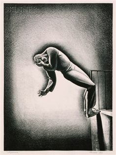 View Nightmare By Rockwell Kent; Lithograph on paper; image size 10 x 8 in. Access more artwork lots and estimated & realized auction prices on MutualArt. Schmidt, Illustrations, Illustration Art, Rockwell Kent, Wood Engraving, American Artists, Printmaking, Vintage Art, Artsy