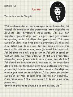 La vie. Charles Chaplin. Passé composé