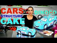 CARS LIGHTNING MCQUEEN BLUE FONDANT DINOCO CHOCOLATE MUD CAKE | BY VERUSCA WALKER - YouTube