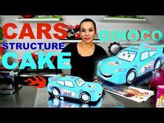 CARS LIGHTNING MCQUEEN BLUE FONDANT DINOCO CHOCOLATE MUD CAKE | BY VERUSCA WALKER - YouTube