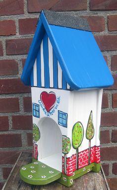 Nistkästen & Vogelhäuser - Vogelhäuschen - Futterhäuschen - Personalisiert - ein Designerstück von personalisiertes bei DaWanda