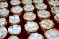 tiny sweet potato pies with marshmallow topping. so cute!!!