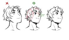 """Miyuli on Twitter: """"Some pointers that helped me get better at certain head angles.… """""""