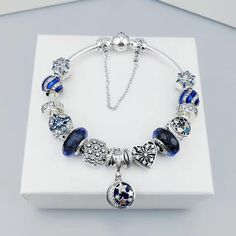 New in our store:pandora bracelet ... check it out here!http://www.charmsilvers.com/products/pandora-bracelet-with-blue-charms?utm_campaign=social_autopilot&utm_source=pin&utm_medium=pin