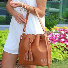 Monogrammed Bucket Bag
