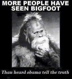 Seen Bigfoot than Obuma tell truth