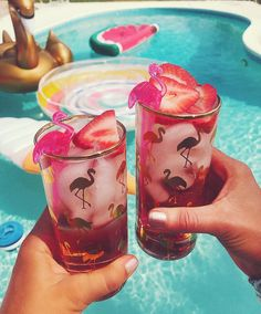 Tone It Up healthy Strawberry Rosé cocktail!