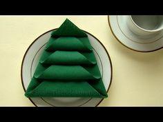 Servietten falten Weihnachten: Weihnachtsdeko selber machen