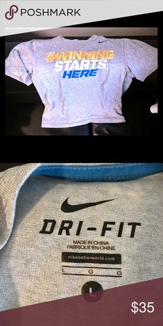 Motivational T Dry fit material with cotton. Has normal ware with not stains or rips!!! Nike Shirts & Tops Tees - Short Sleeve