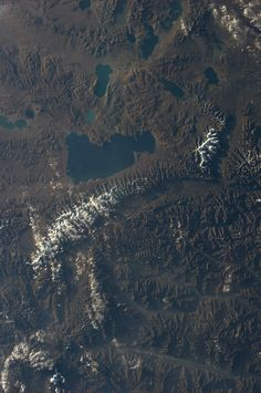 Tibet.  KN from space.