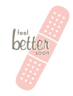 Two Trick Pony, card, stationery, feel better soon, get better soon, sick, band-aid