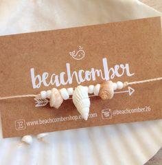 bracelet de cheville cheville coquillage bijoux par beachcombershop