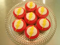 The Flash Cupcakes... his favorite is the flash! He'll love these!