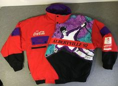 OLYMPICS COCA COLA JACKET 1992 Albertville France SKI Winter Coat USA XL EUC! #CocaCola #Ski