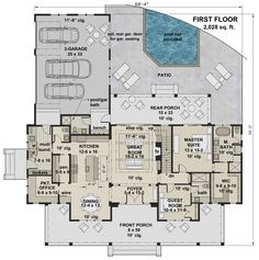 Find your dream modern-farmhouse style house plan such as Plan which is a 2743 sq ft, 4 bed, 4 bath home with 3 garage stalls from Monster House Plans. Best House Plans, Dream House Plans, House Floor Plans, Dream Houses, Modern Farmhouse Plans, Farmhouse Design, Farmhouse Style, Farmhouse Decor, The Plan